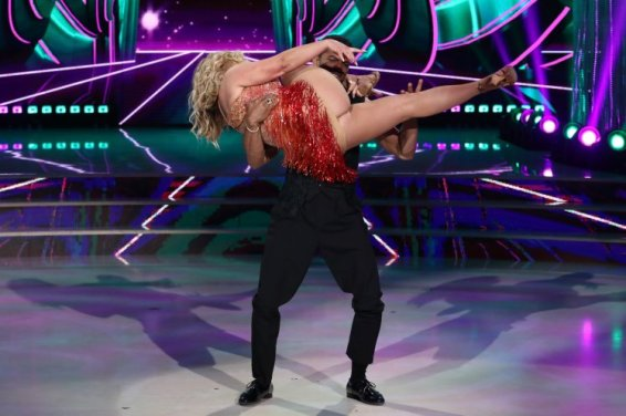"Anastacia and Maykel Fonts appearing on ""Dancing with the Stars"" filmed in Italy"